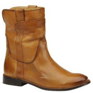 FRYE Paige Short Riding Boot English Tan Cognac
